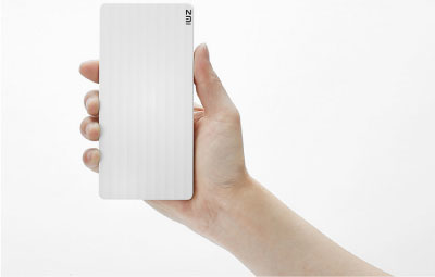 xiaomi zmi power bank 10000mAh tamño